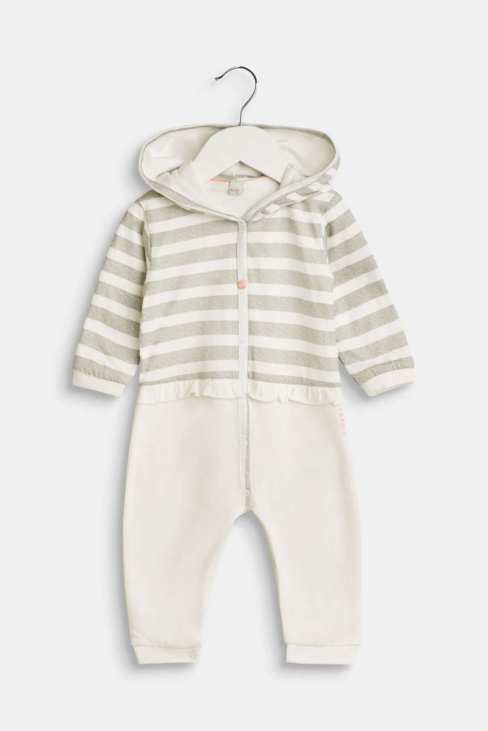 Esprit - Romper suit made of sweatshirt fabric containing organic cotton