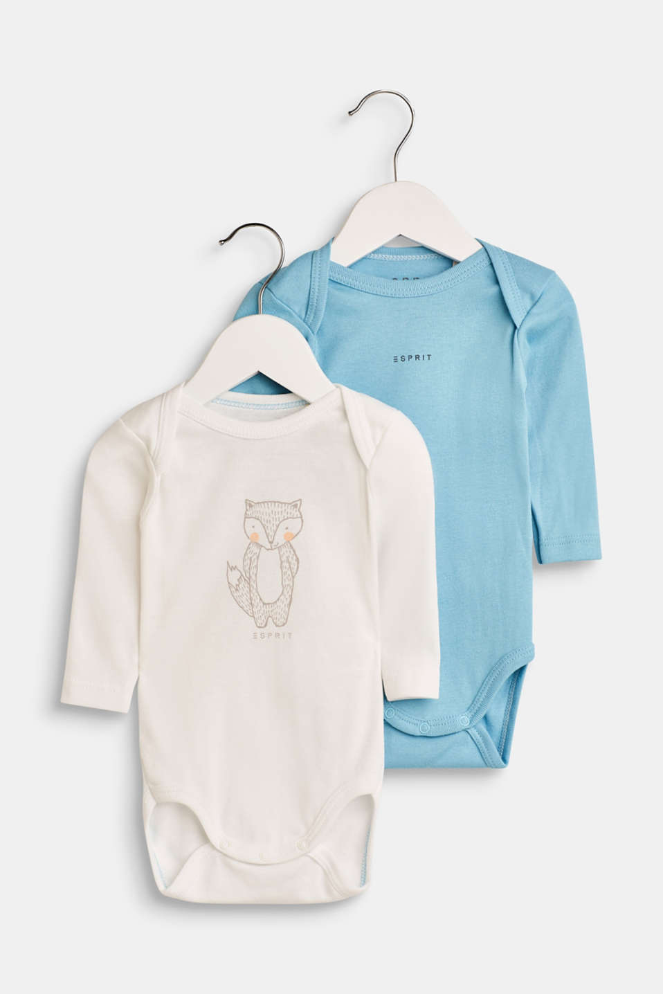 A cosy highlight for the little ones – with a print or plain: soft long sleeve bodies in a practical double pack with soft organic cotton.