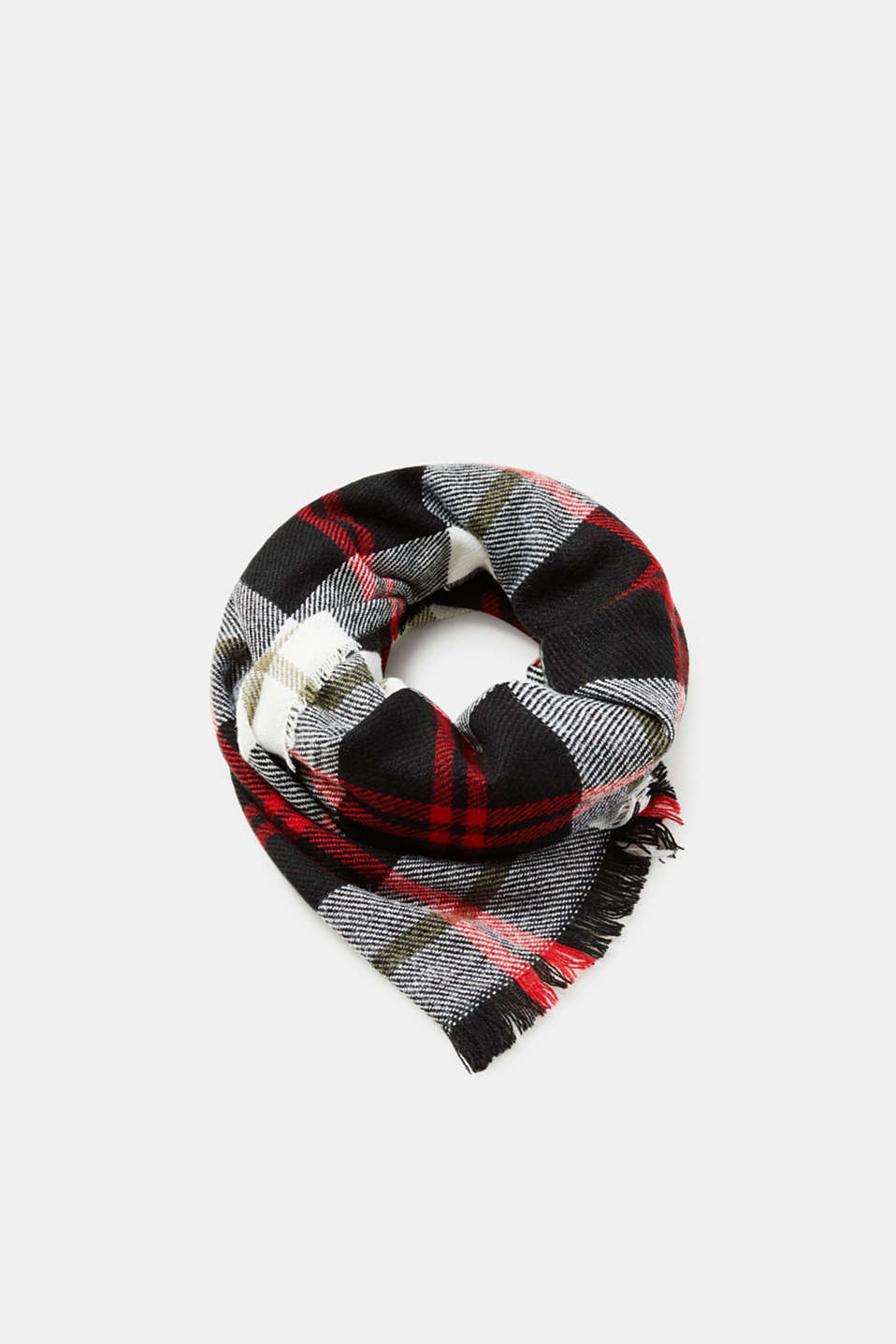 Esprit - Warm scarf with a check pattern