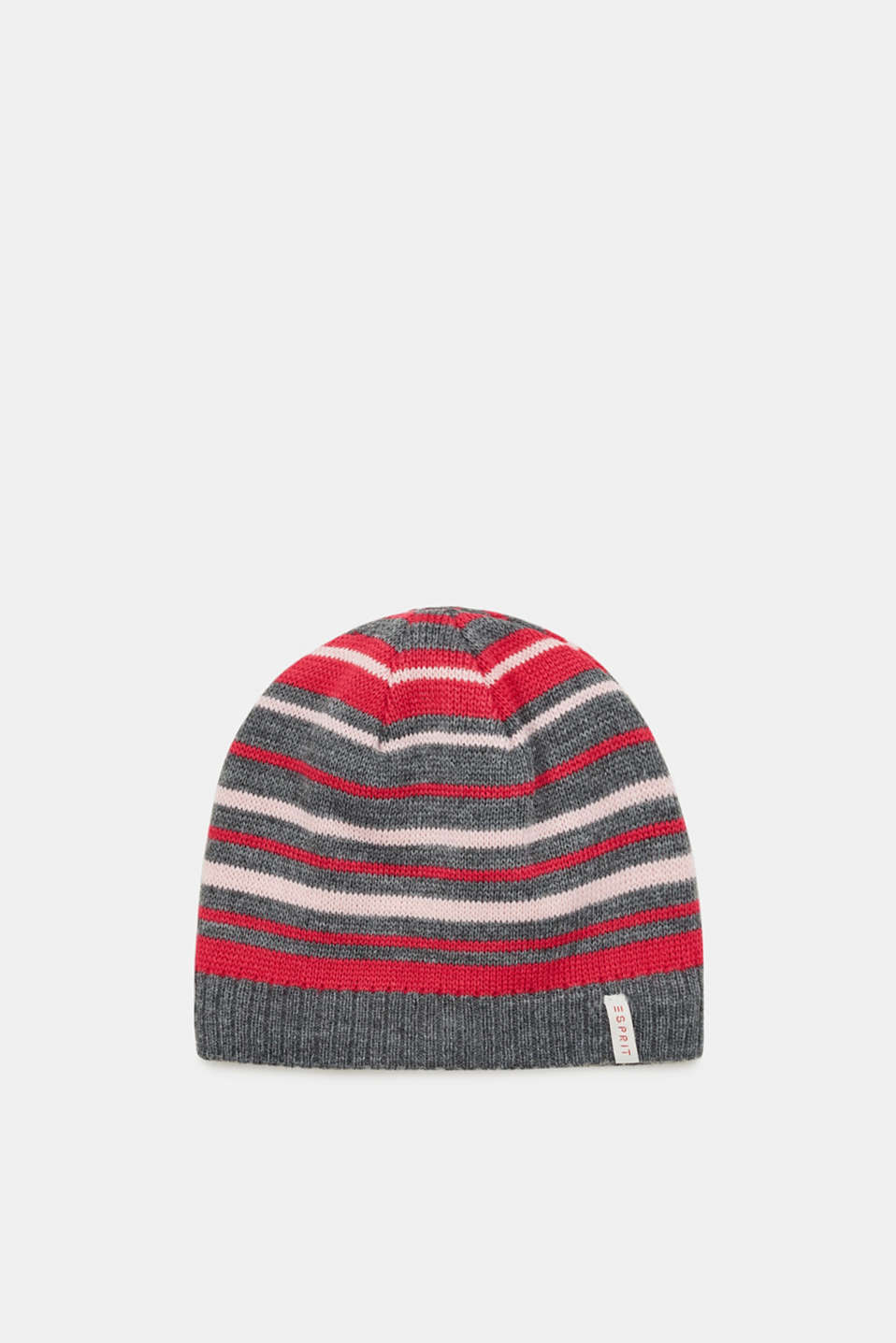 Esprit - Striped knit hat with fleece lining