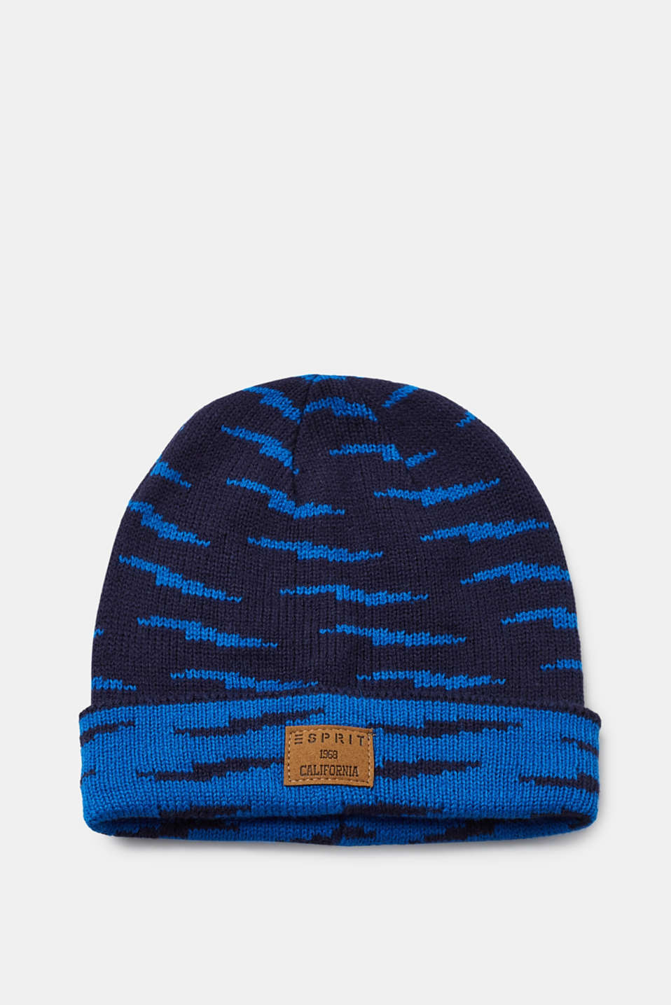 Esprit - Knitted cap with a two-tone pattern