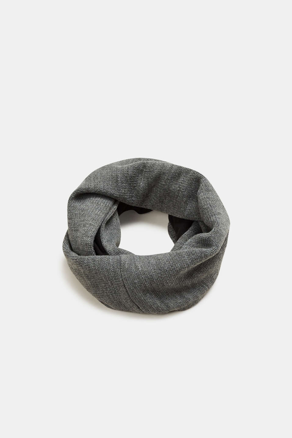 Esprit - Melange snood with fleece lining