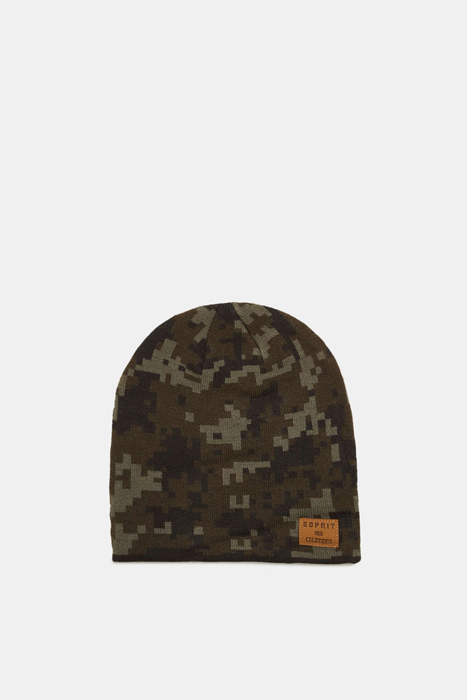 Esprit - Cap with a pixelated pattern