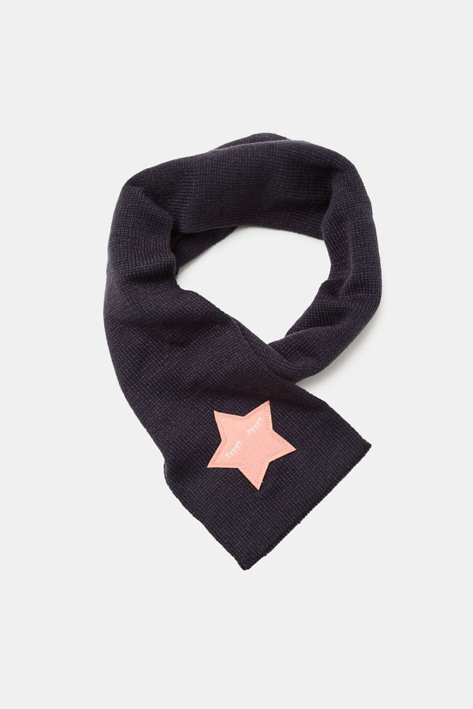 Esprit - Knitted scarf with star appliqué