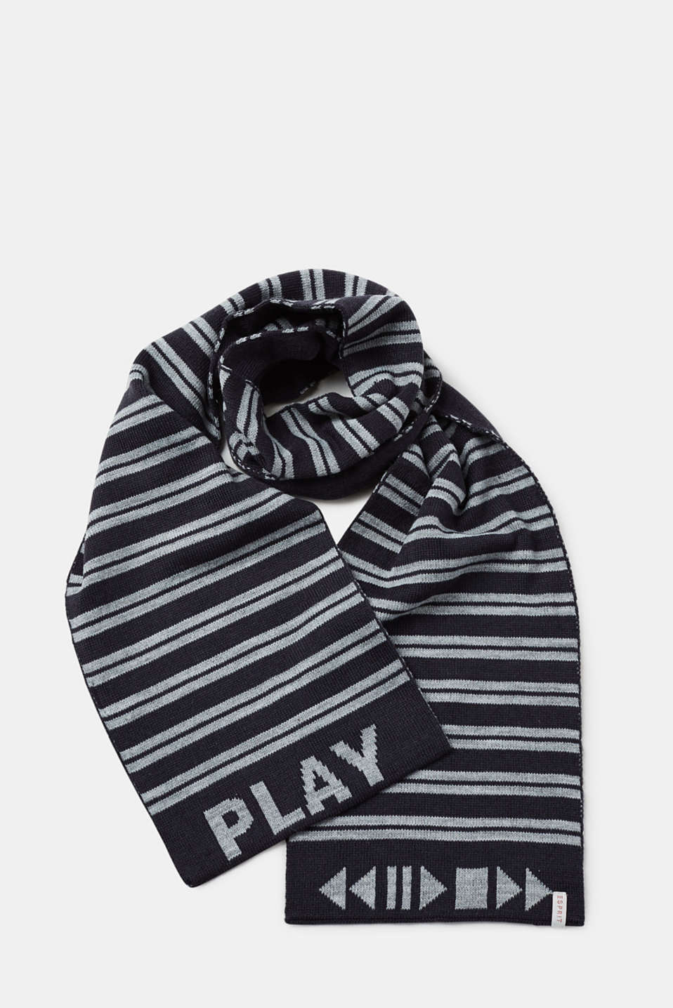Esprit - Double-faced knitted scarf with stripes