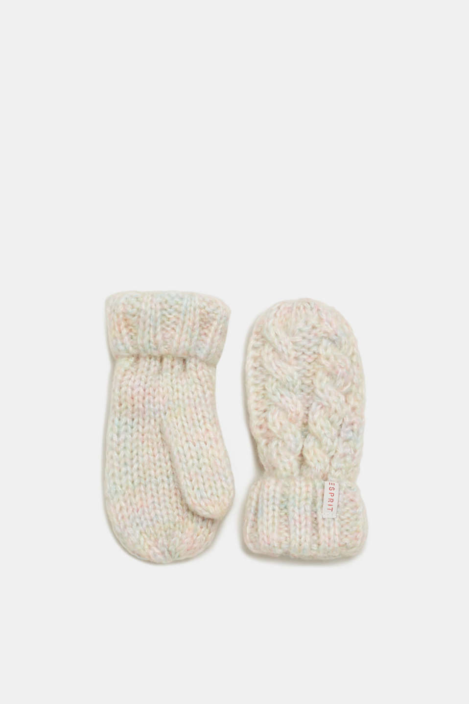 Esprit - Gloves in melange knit