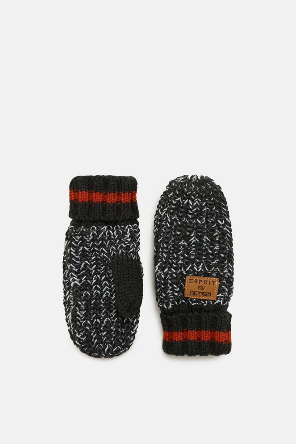 Esprit - Knit mittens with fleece lining
