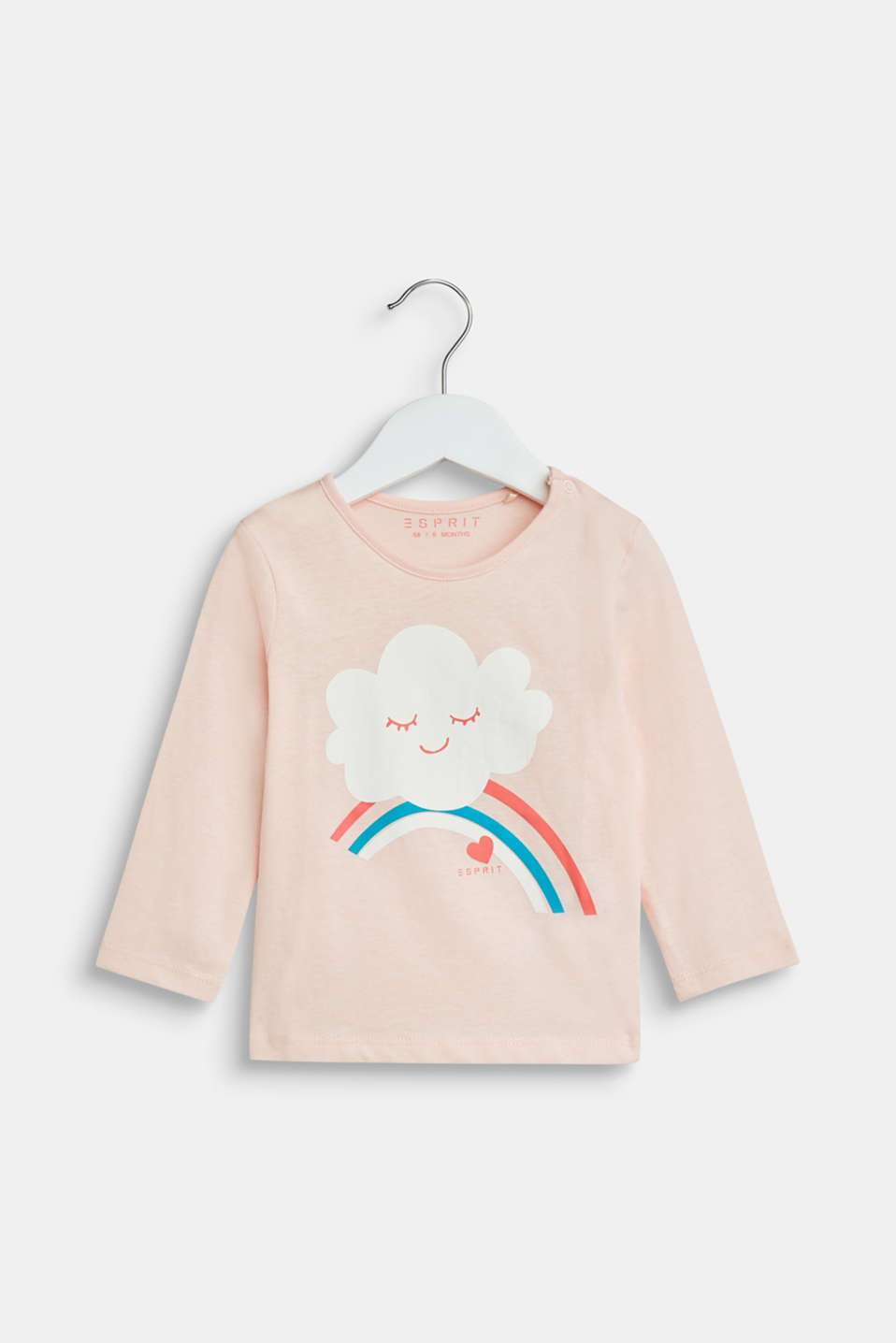 Esprit - Long sleeve top with a cloud print, 100% cotton