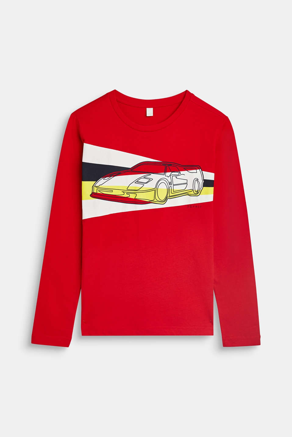 Esprit - Long sleeve top with a racing car print