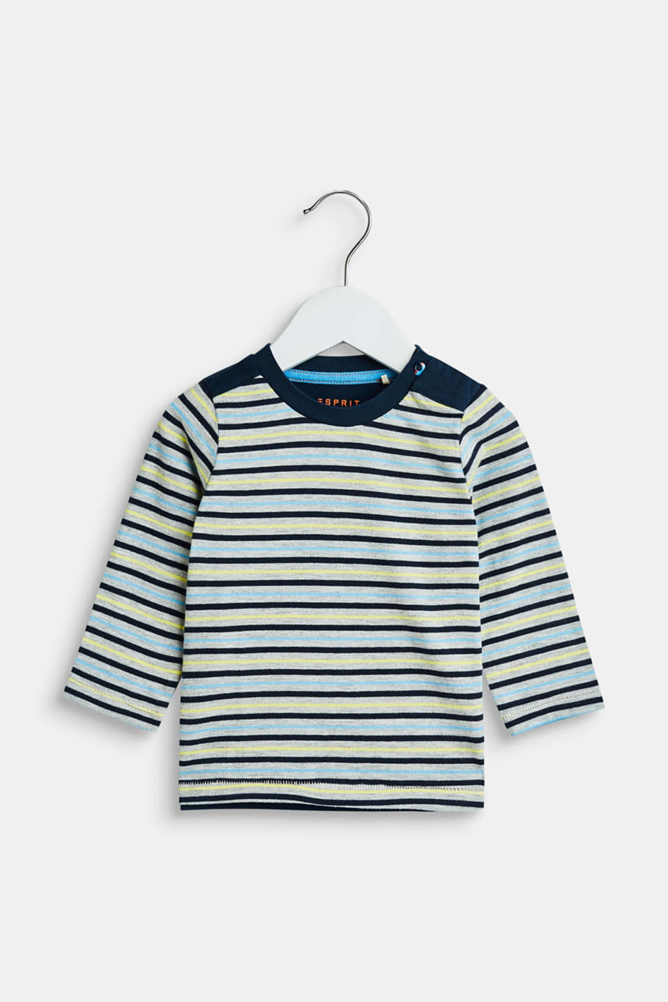 Esprit - Long sleeve top with printed stripes