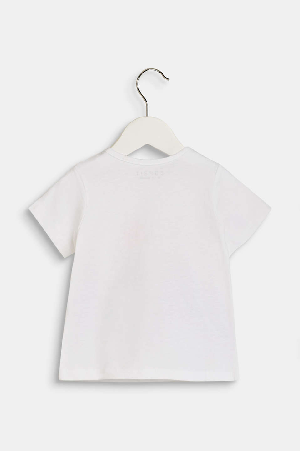T-shirt with a zebra print, 100% cotton, LCWHITE, detail image number 1