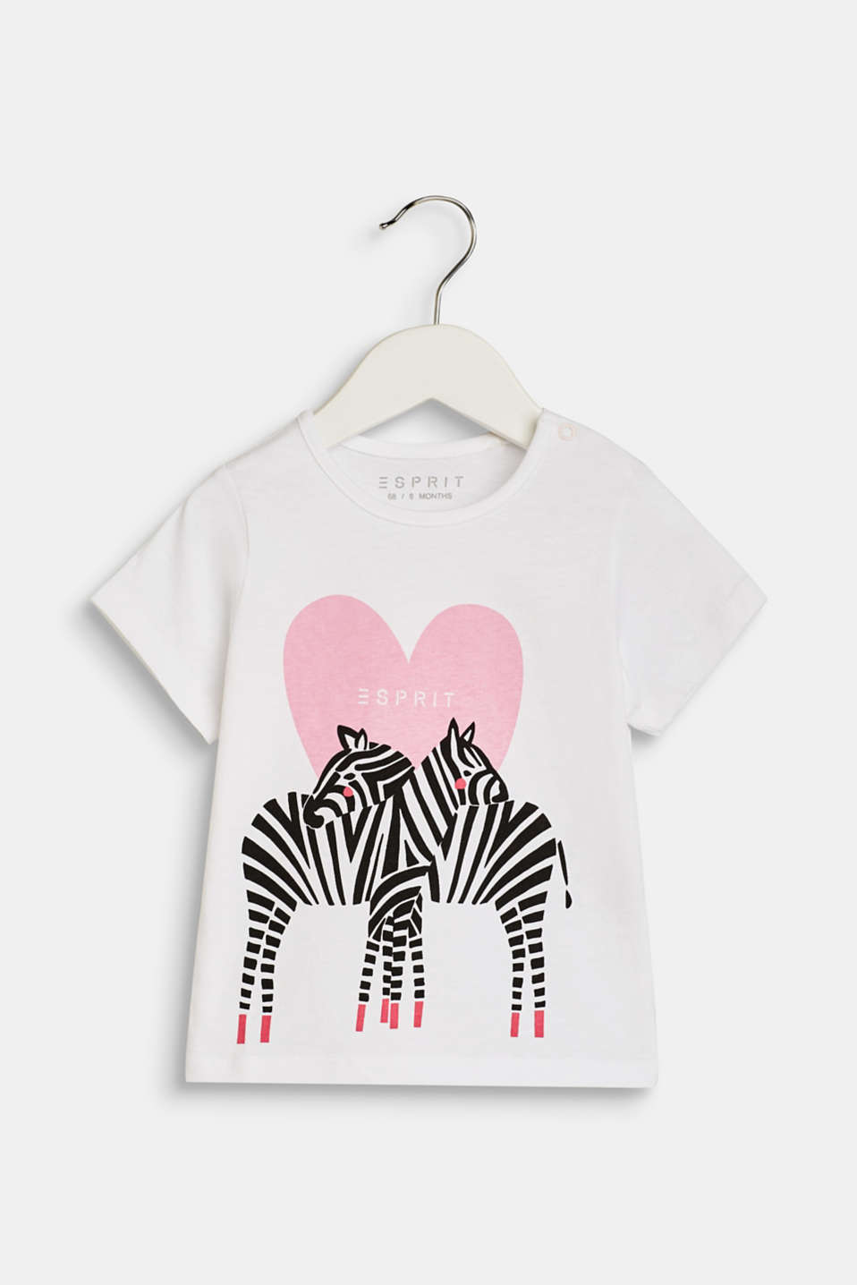 T-shirt with a zebra print, 100% cotton, LCWHITE, detail image number 0