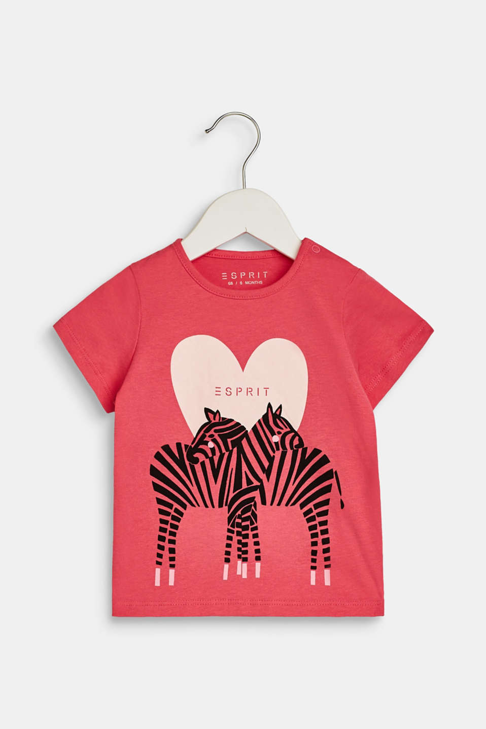 Esprit - T-shirt with a zebra print, 100% cotton