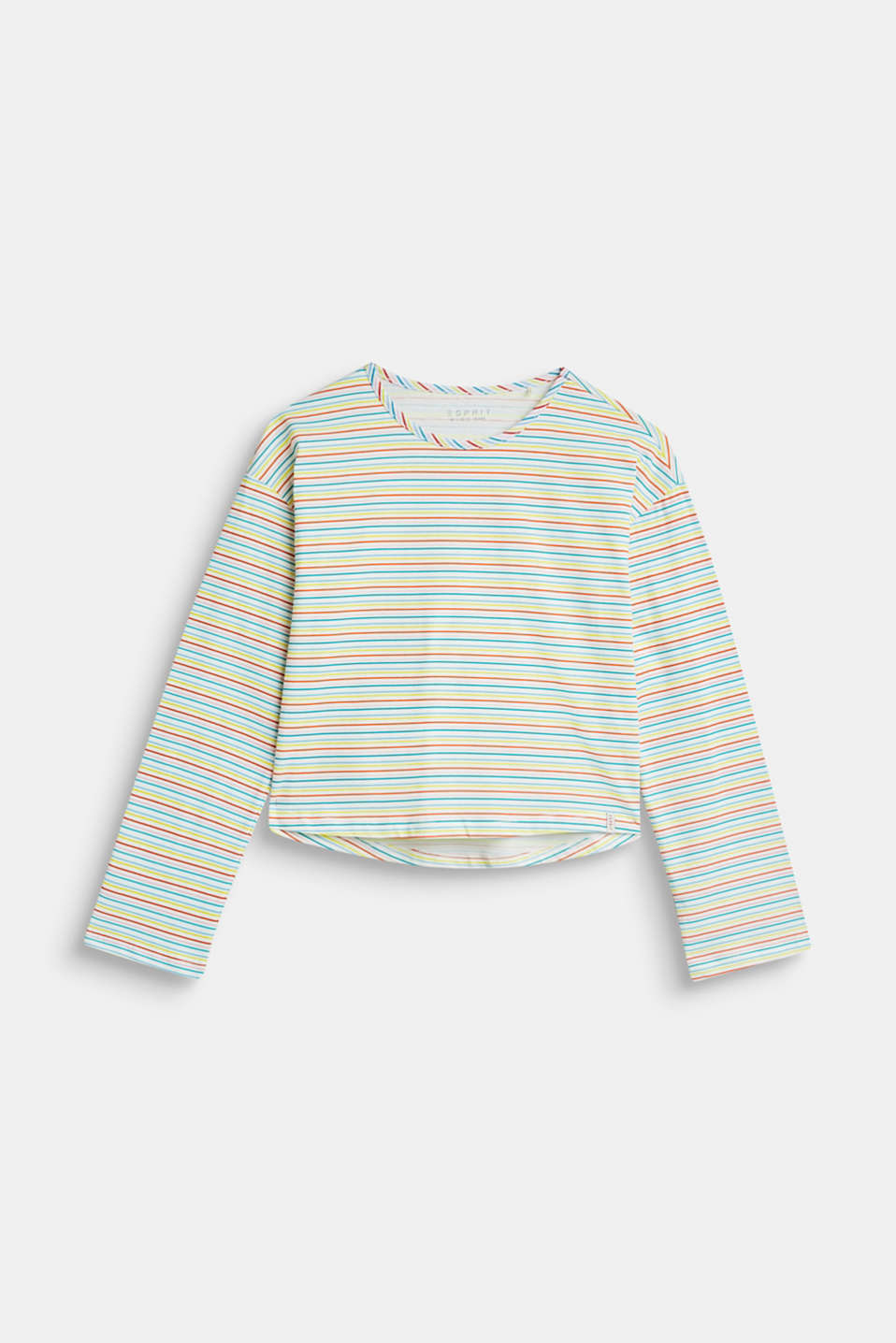 Esprit - Colourful striped long sleeve T-shirt, 100% cotton