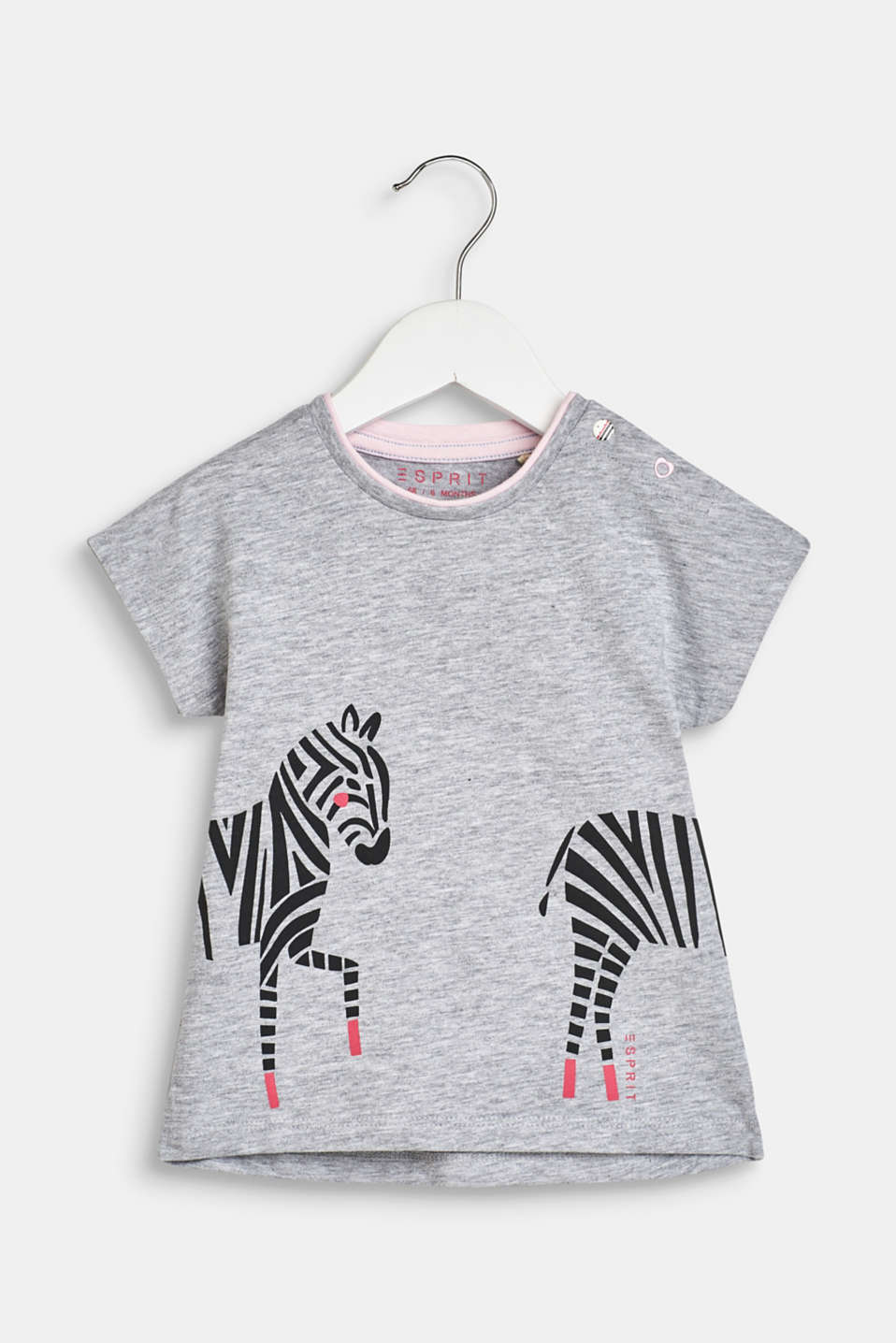 Esprit - T-shirt with a stylised zebra print