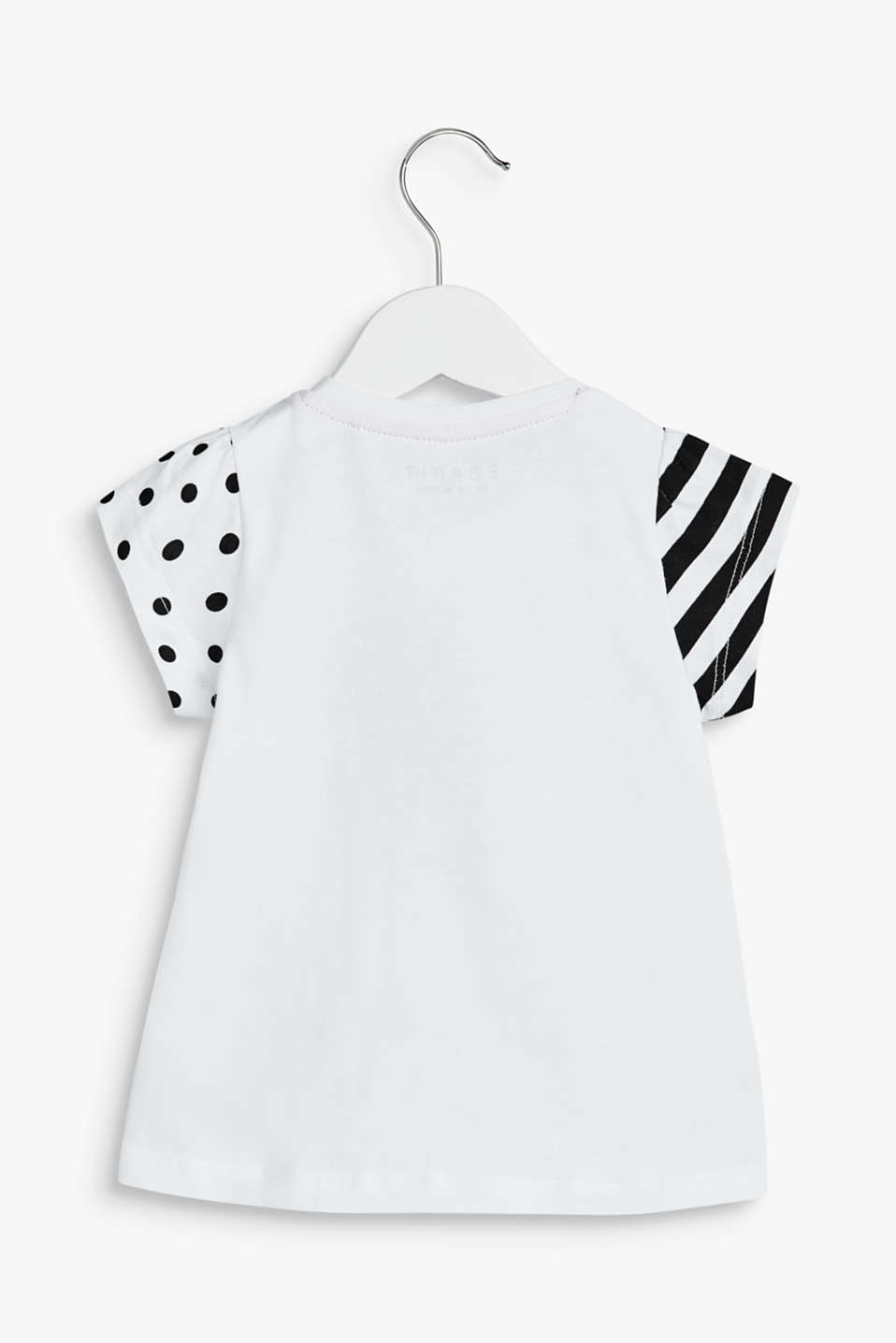 T-shirt with a heart print, 100% cotton, LCWHITE, detail image number 1