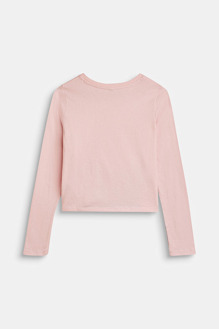 Cropped Longsleeve mit Statement, 100% Baumwolle, LIGHT PINK, detail image number 1