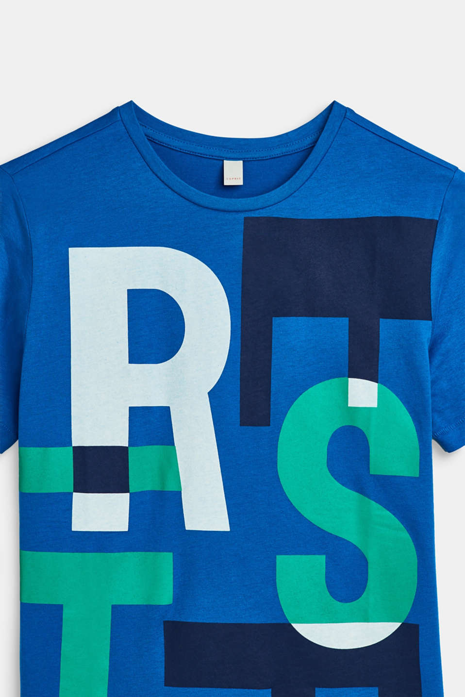 T-shirt with XXL lettering, 100% cotton, LCMETYL BLUE, detail image number 2