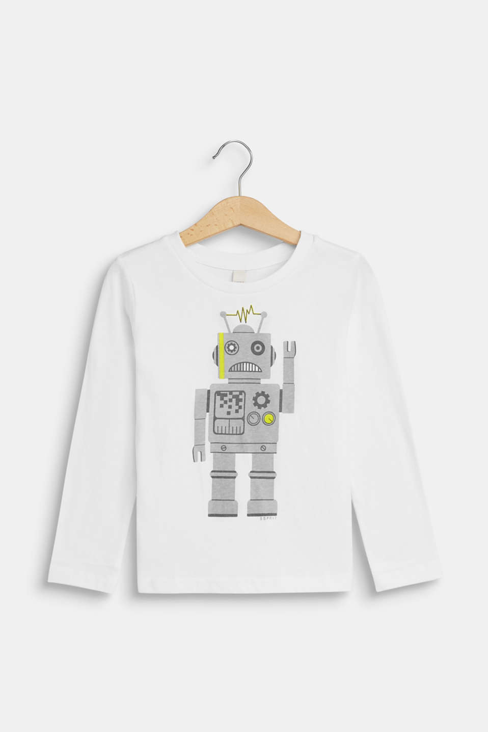 Esprit - Long sleeve top with a robot print, 100% cotton
