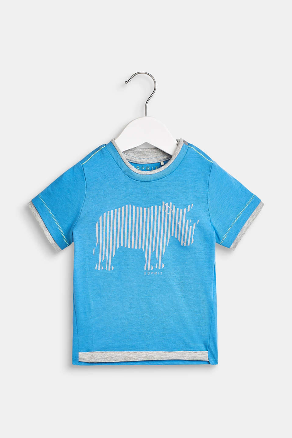 Esprit - T-shirt with rhino print, 100% cotton