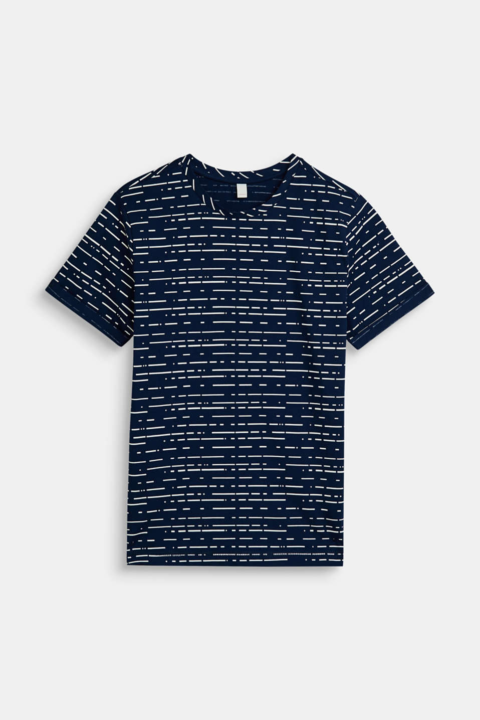Esprit - T-shirt met print all-over, 100% katoen