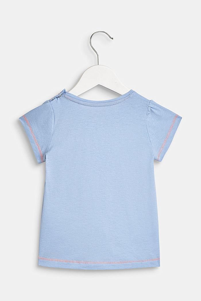 T-shirt met statementprint, 100% katoen, LCSKY BLUE, detail image number 1
