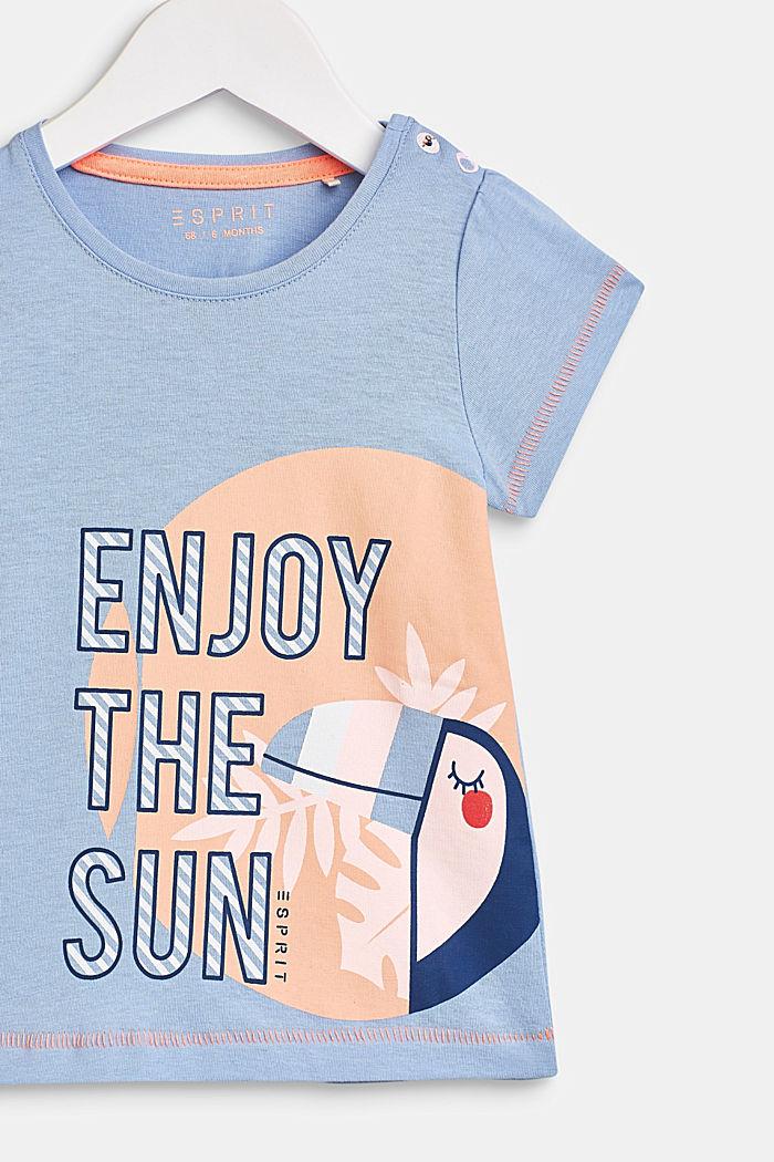 T-shirt met statementprint, 100% katoen, LCSKY BLUE, detail image number 2