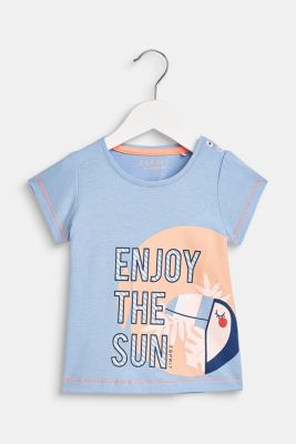 T-shirt with a statement print, 100% cotton, LCSKY BLUE, detail