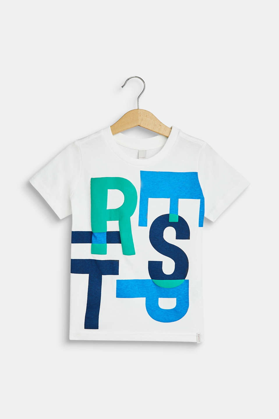 T-shirt with a logo print in a 3D look, OFF WHITE, detail image number 0