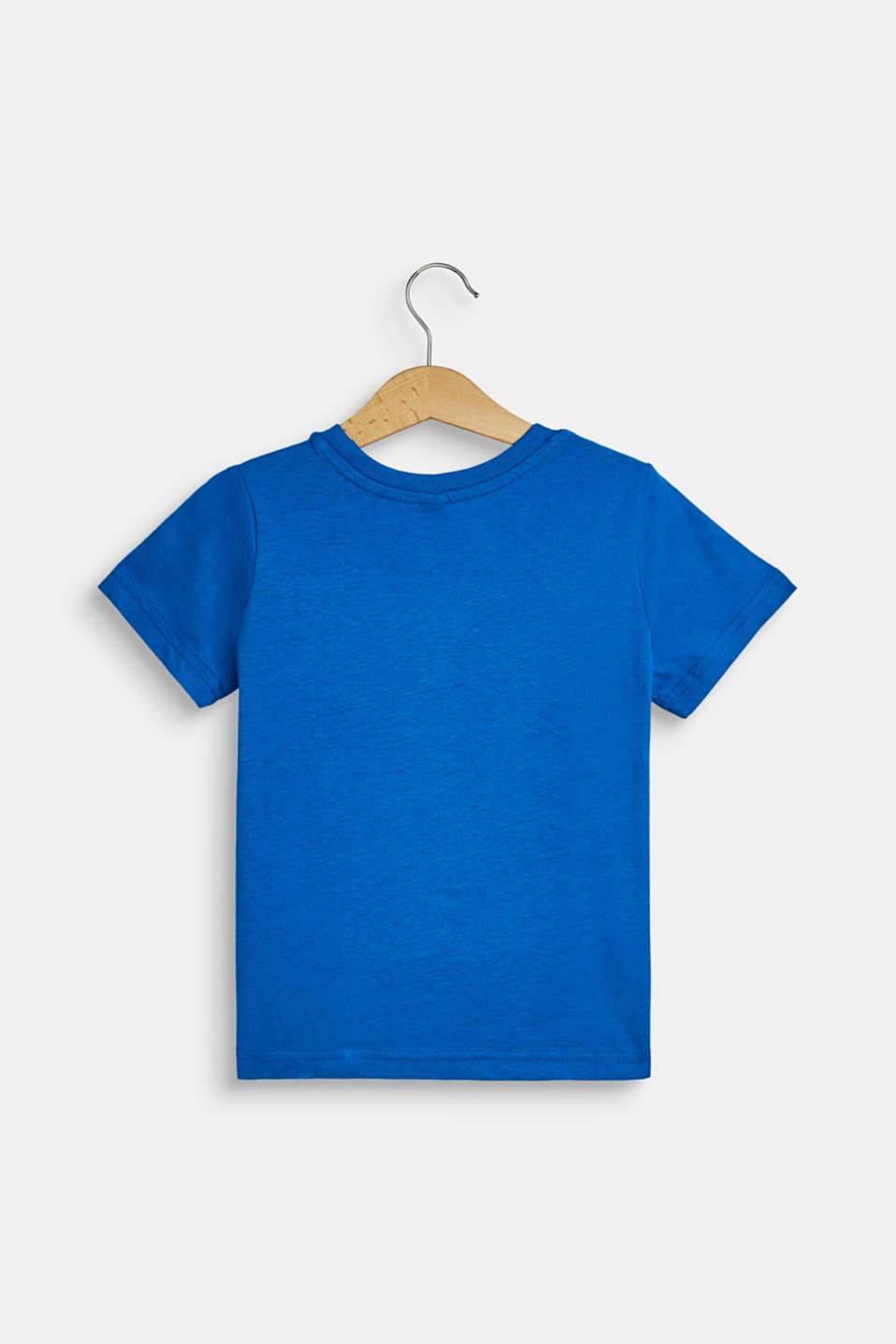 T-shirt with a logo print in a 3D look, METYL BLUE, detail image number 1