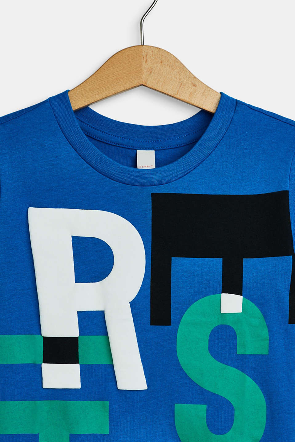 T-shirt with a logo print in a 3D look, METYL BLUE, detail image number 2