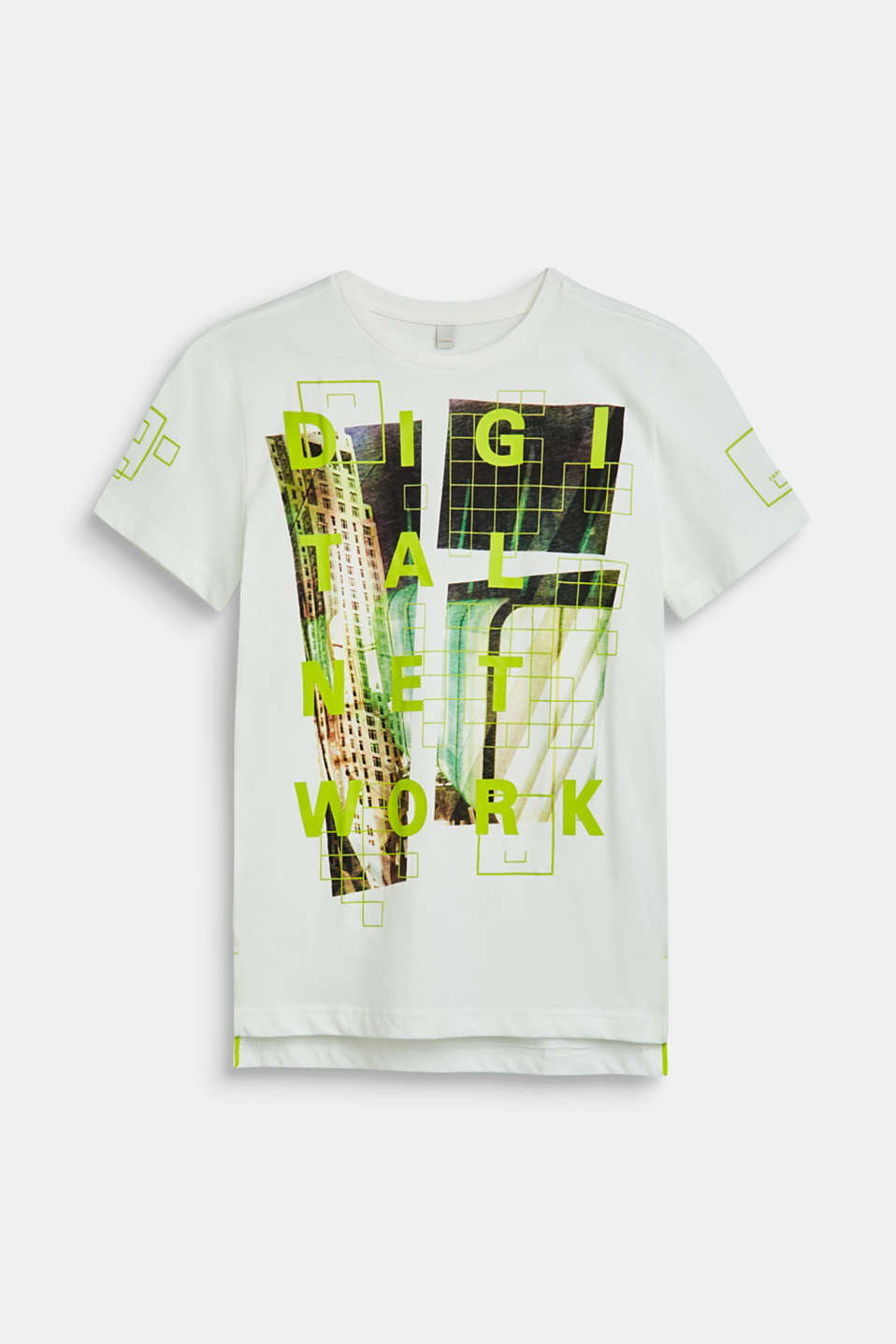 Esprit - T-shirt with a partially rubber-coated front print