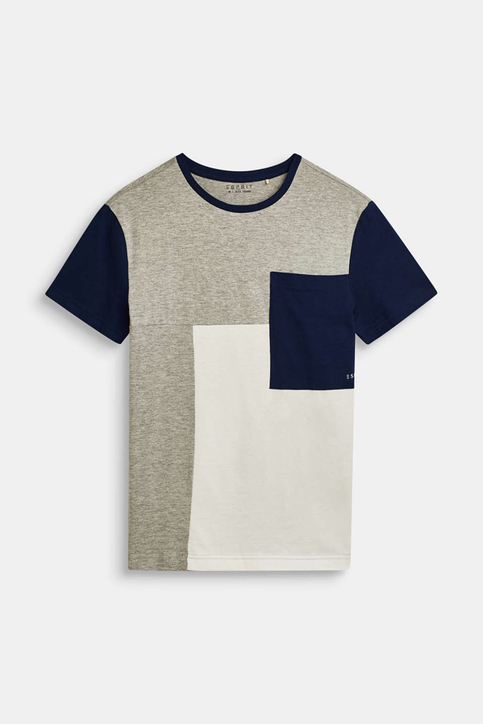 Esprit - T-shirt met colour block en zak