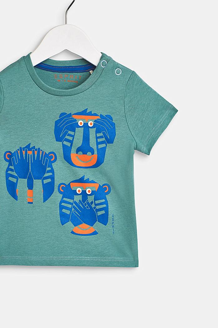 T-Shirt mit Affen-Print, 100% Baumwolle, LCSOFT GREEN, detail image number 2