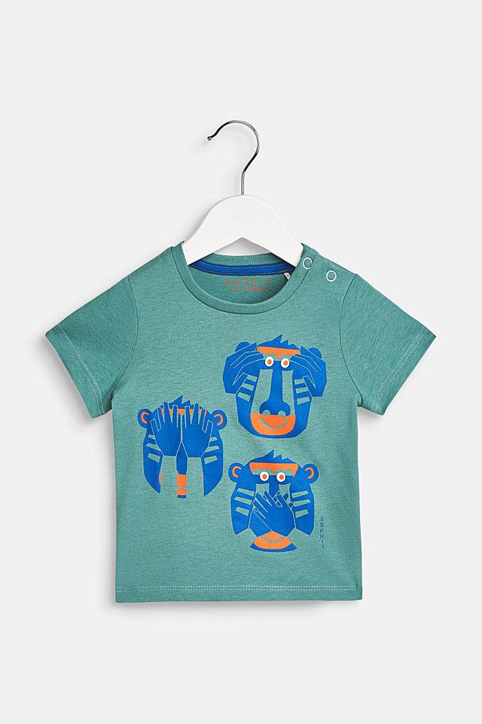 T-Shirt mit Affen-Print, 100% Baumwolle, LCSOFT GREEN, detail image number 0