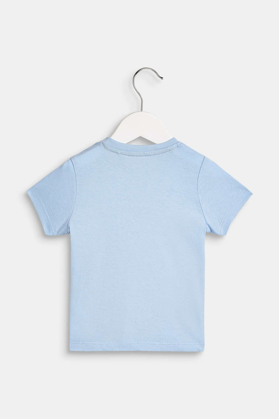 T-shirt with a statement print, 100% cotton, LCSKY BLUE, detail image number 1