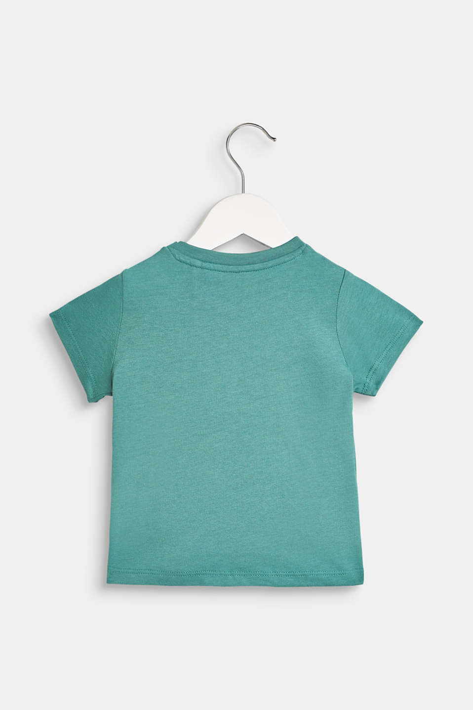 100% cotton T-shirt with a monkey print, LCSOFT GREEN, detail image number 1