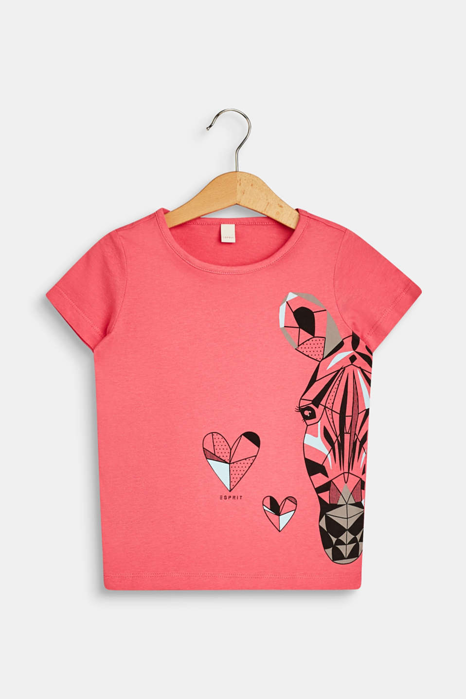 Esprit - T-shirt with zebra print, 100% cotton