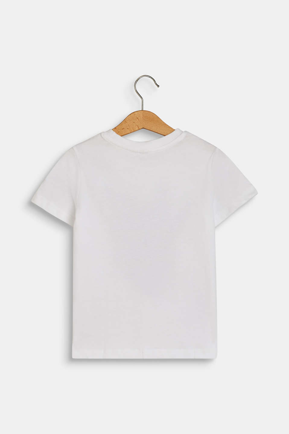 T-shirt with rhino print, 100% cotton, WHITE, detail image number 1