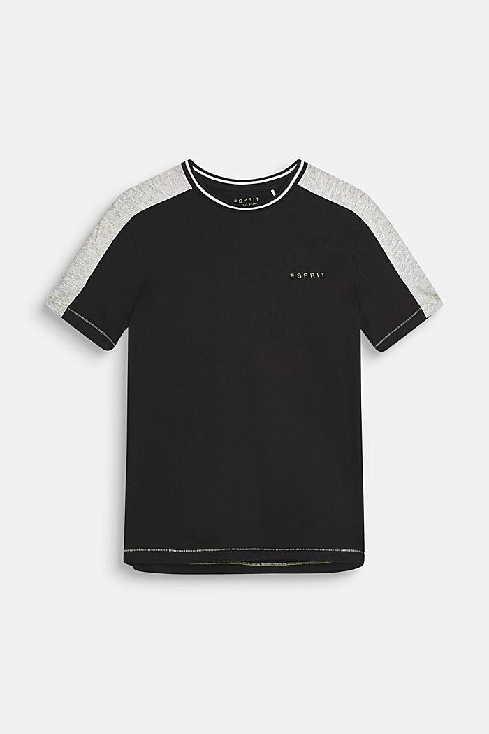 T-Shirt mit Statement-Print, 100% Baumwolle, ANTHRACITE, detail image number 0