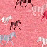 Horse print T-shirt, DARK PINK, swatch