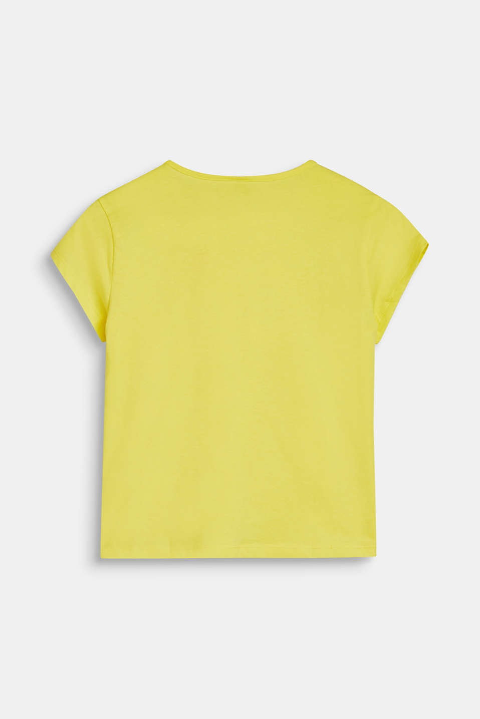 Cropped statement T-shirt, 100% cotton, LCLEMON DROP, detail image number 1
