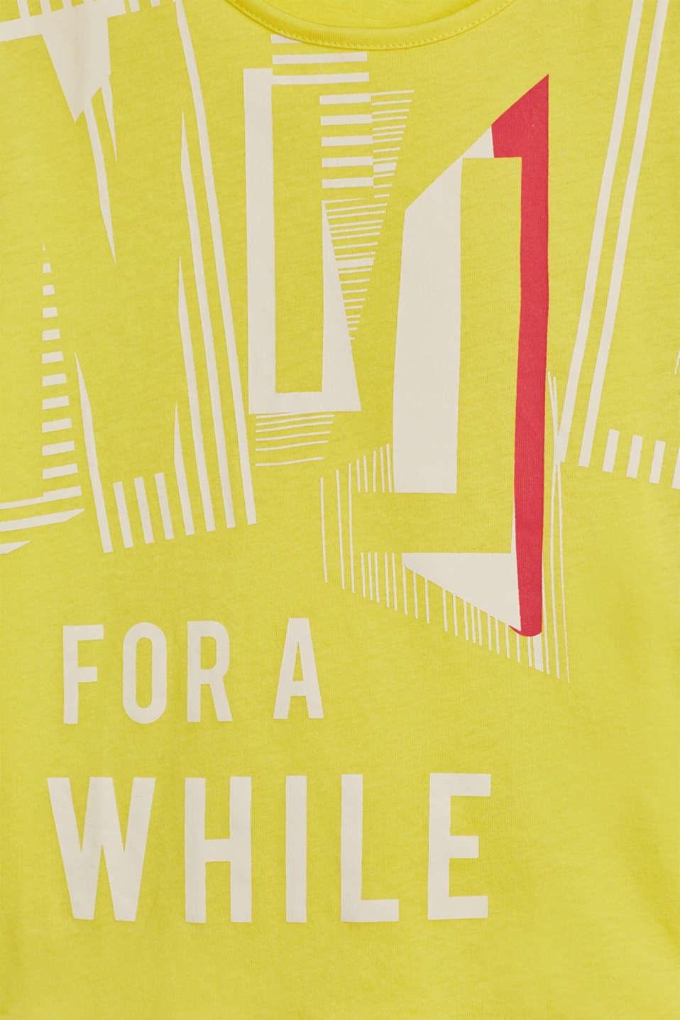 Cropped statement T-shirt, 100% cotton, LCLEMON DROP, detail image number 2