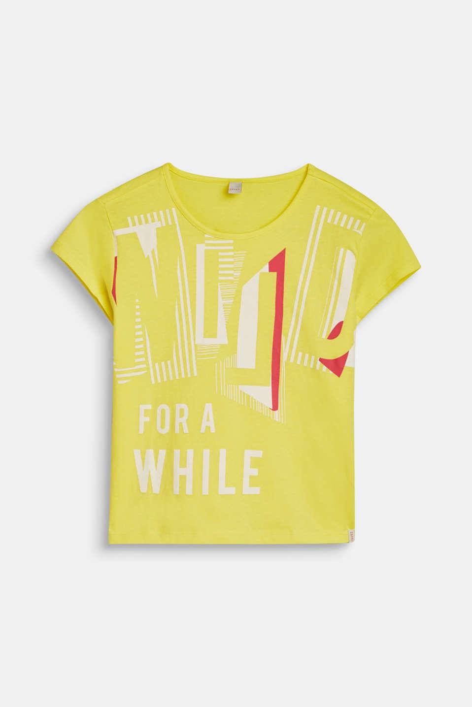 Cropped statement T-shirt, 100% cotton, LCLEMON DROP, detail image number 0