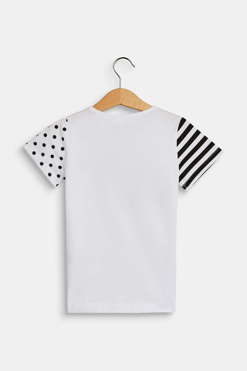 Logo print T-shirt in 100% cotton, WHITE, detail image number 1