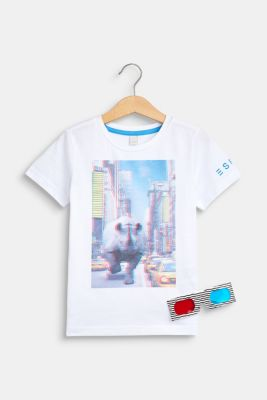 Set: T-shirt with a print and 3D glasses, WHITE, detail
