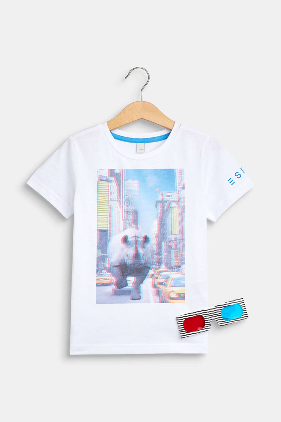 Esprit - Set: T-shirt with a print and 3D glasses