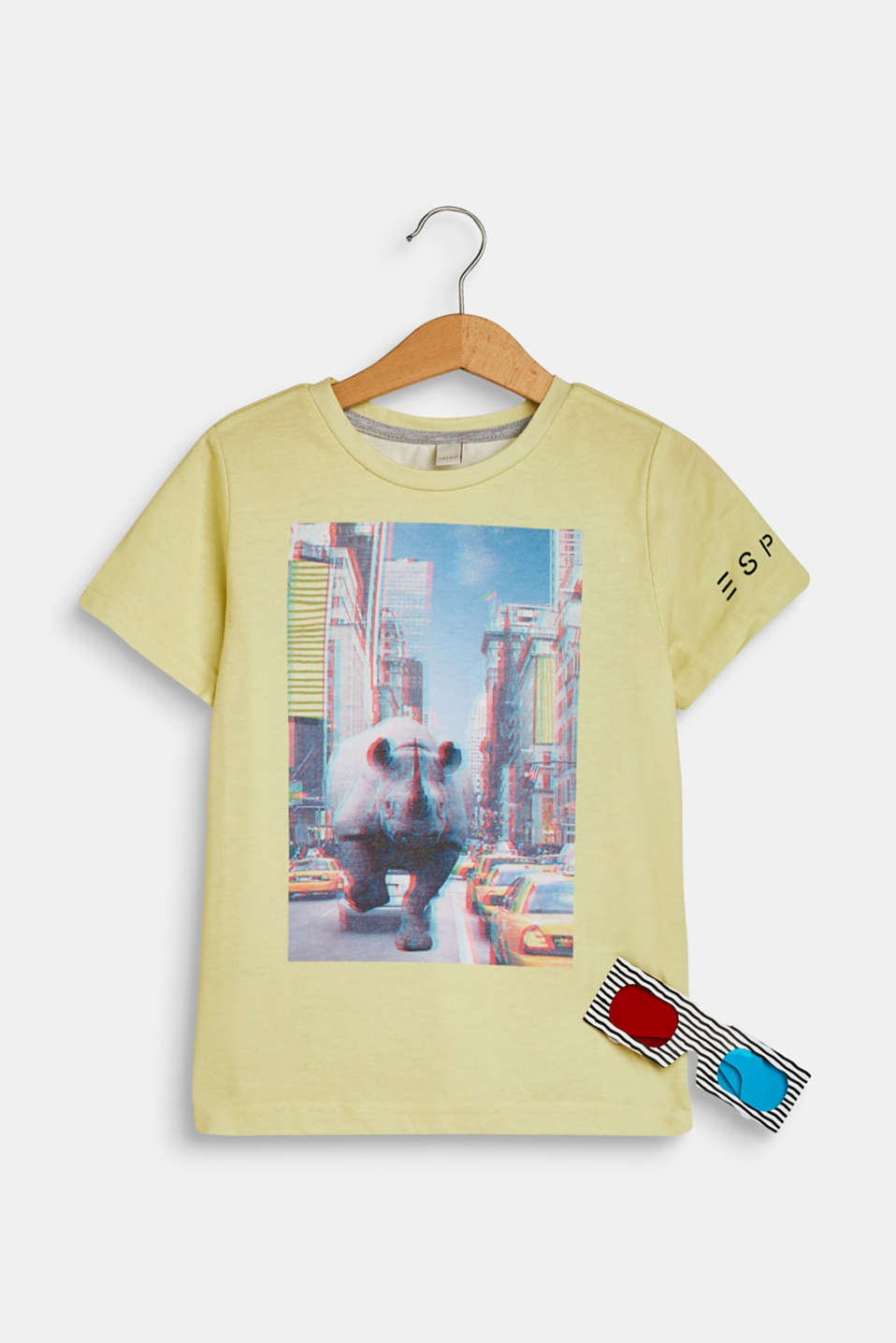 Set: T-shirt with a print and 3D glasses, LEMON DROP, detail image number 0