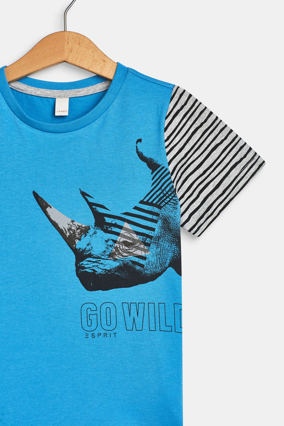 T-shirt with an animal print, AZUR BLUE, detail image number 2