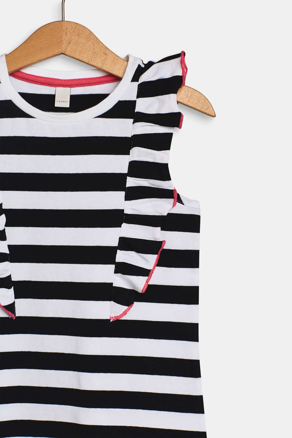 Striped jersey top with flounce details, WHITE, detail image number 3